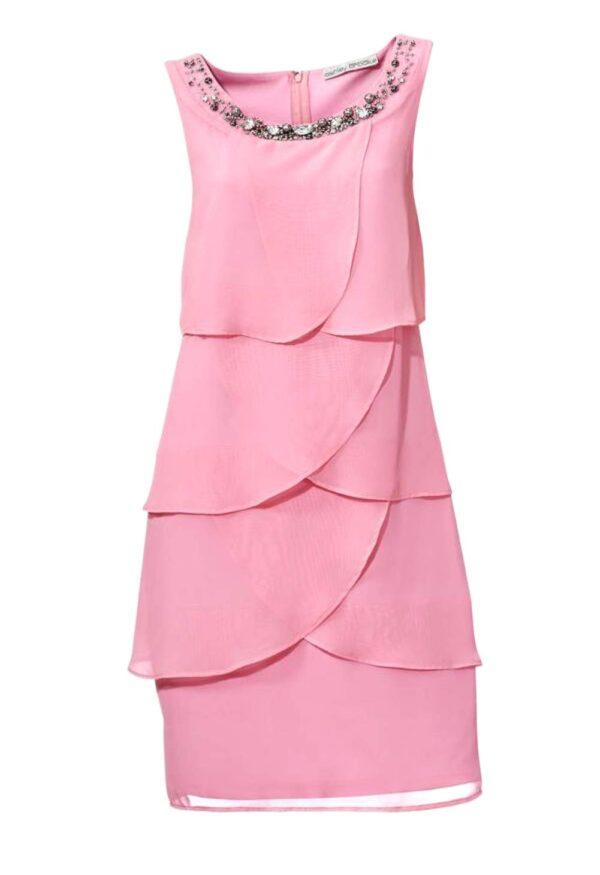 003.430 ASHLEY BROOKE Damen Designer-Cocktailkleid Rosé