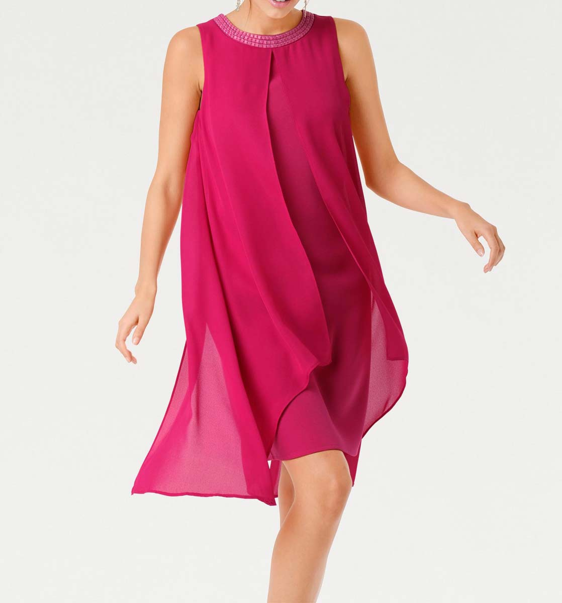 004.767a ASHLEY BROOKE Damen Designer-Cocktailkleid Pink