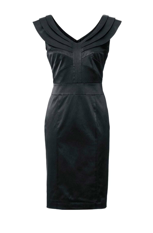 006.457 ASHLEY BROOKE Damen Designer-Cocktailkleid Schwarz