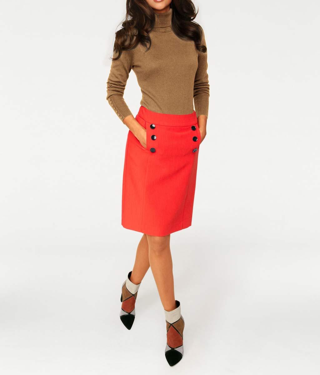 017.589 ASHLEY BROOKE Damen Designer-Rollkragenpullover m. 10% Kaschmir Rolli Camel