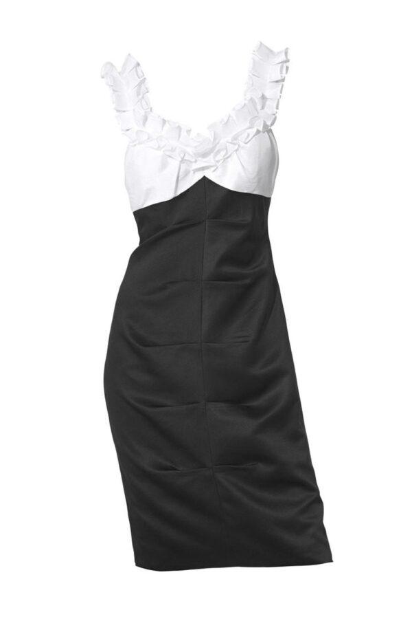 035.290 Cocktailkleid, schwarz-weiß von Ashley Brooke event Grösse 36