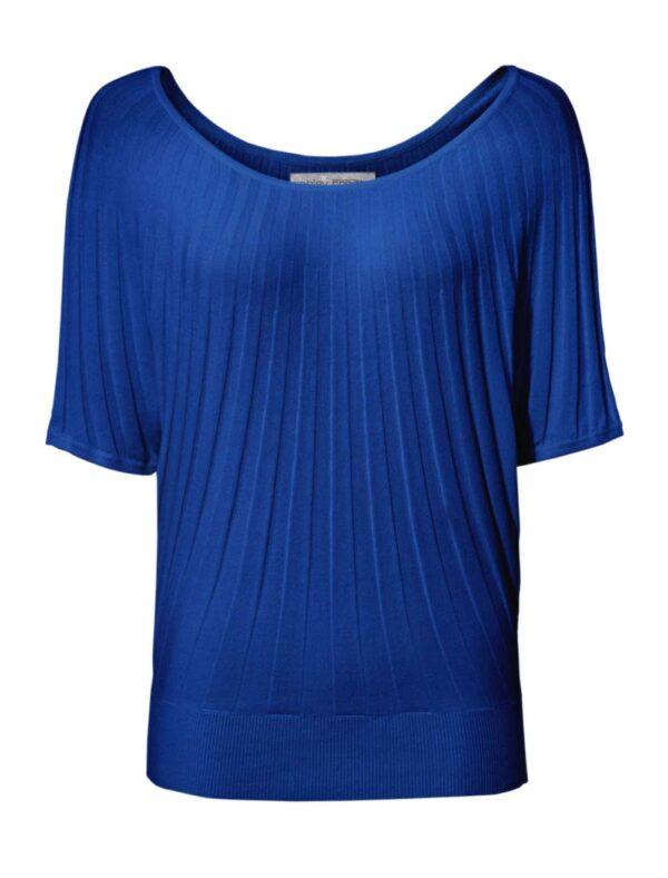 070.167 ASHLEY BROOKE Damen Designer- Pullover Fledermausärämel Halbarm Royalblau Blau
