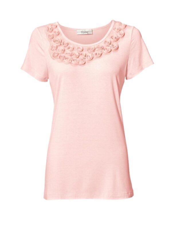 074.466 LINEA TESINI Damen Designer-Shirt Rosé