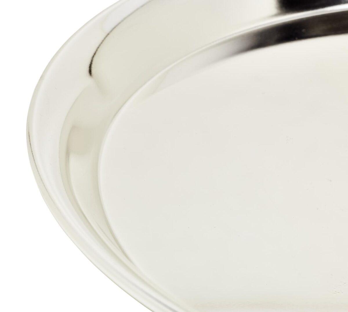 1006 EDZARD Tablett, Serviertablett Marlene, rund, Edelstahl hochglanzpoliert 34 cm