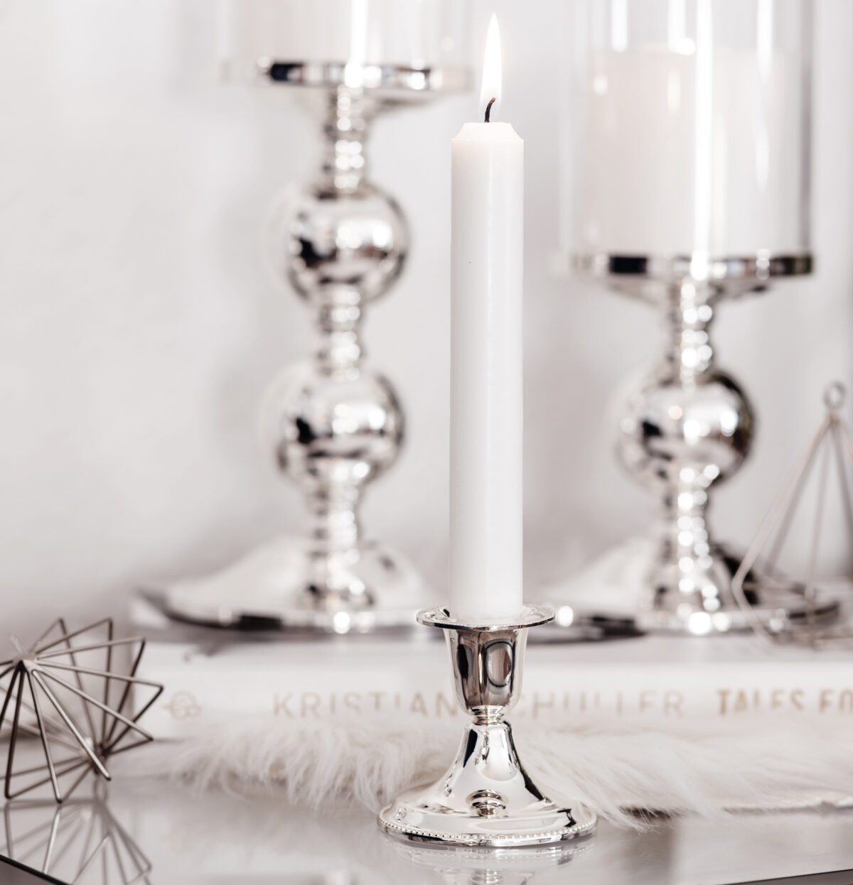 1190 Kerzenleuchter Perla für Stabkerze, Höhe 7 cm
