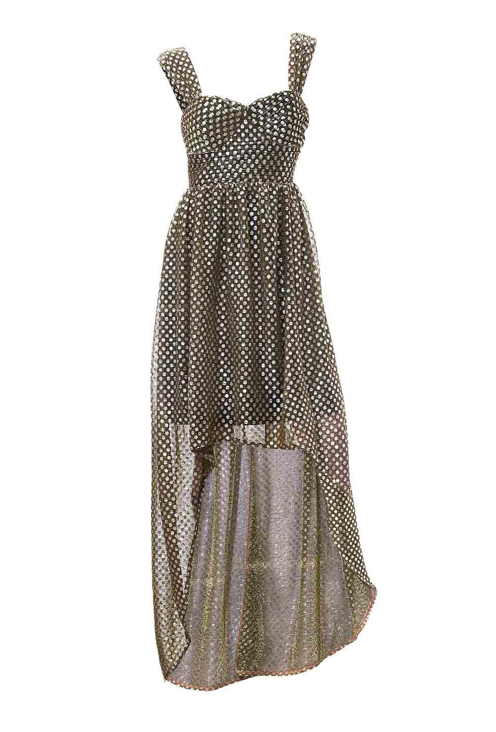 128.934 Abendkleid, schwarz-silber von Ashley Brooke event Grösse 36