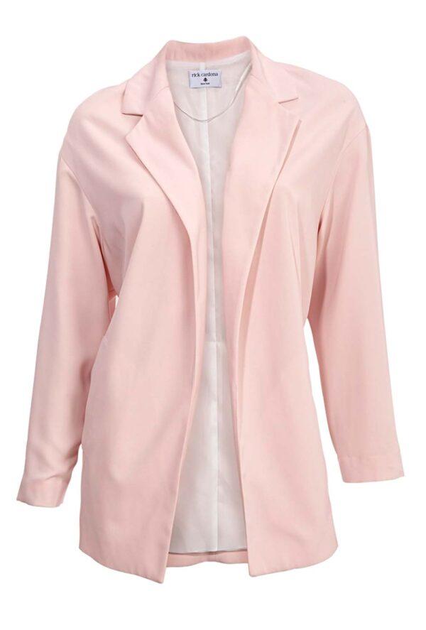 134.097 RICK CARDONA Damen Designer-Blazer Rosé Business Blazerjacke Oversized Offen