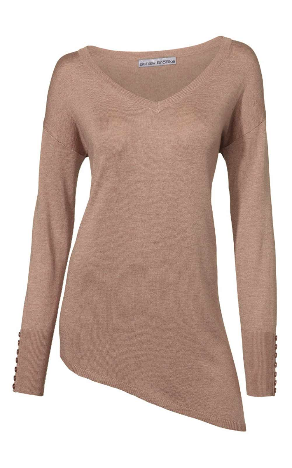 181.070 ASHLEY BROOKE Damen Designer-Pullover Beige