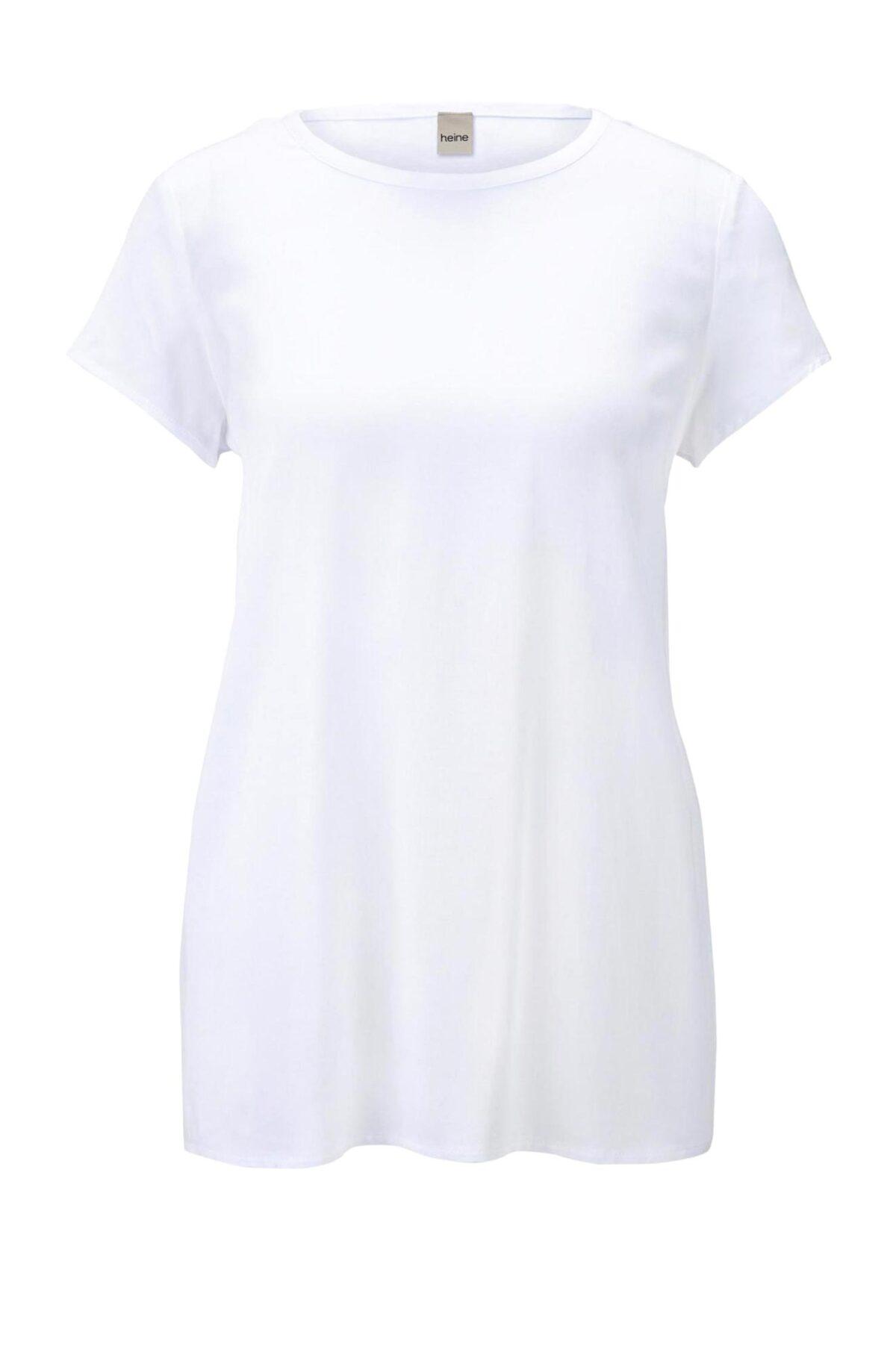 304.810 HEINE Damen Designer-Druckbluse Weiß-Blau