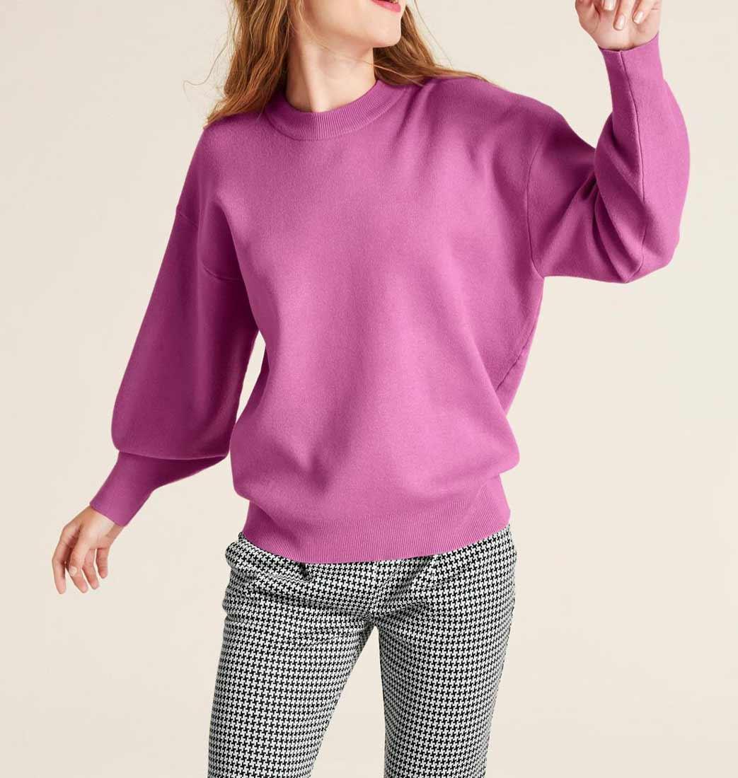 447.150a ASHLEY BROOKE Damen Designer-Oversized-Pullover Pink