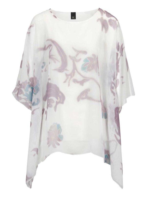 562.778 HEINE Damen Designer-Blusenshirt Ecru-Pastell