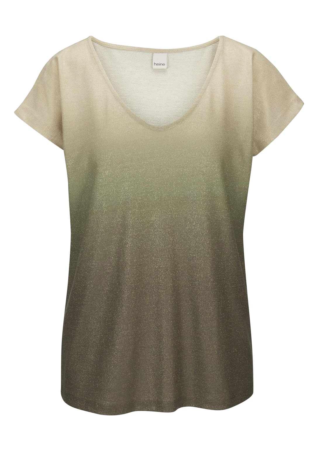 607.317 HEINE Damen Designer-Shirt Beige-Khaki