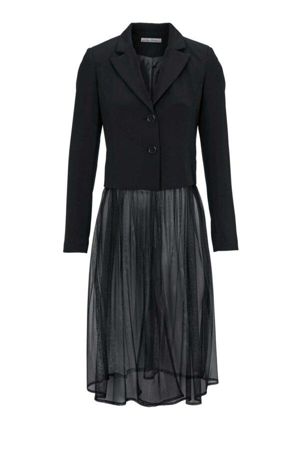 828.224 ASHLEY BROOKE Damen Designer-Blazer Schwarz Business Blazerjacke