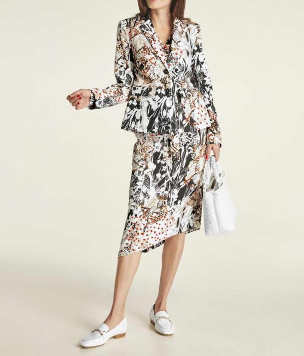 906.931 HEINE Damen Designer-Blazer Bunt Business Blazerjacke Muster Baumwolle Elasthan