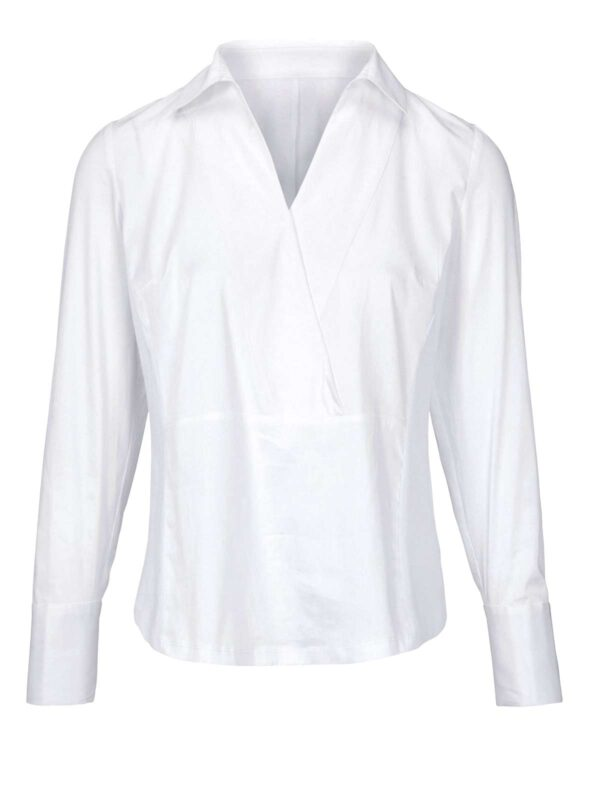 907.881 HEINE Damen Designer-Bluse Weiß