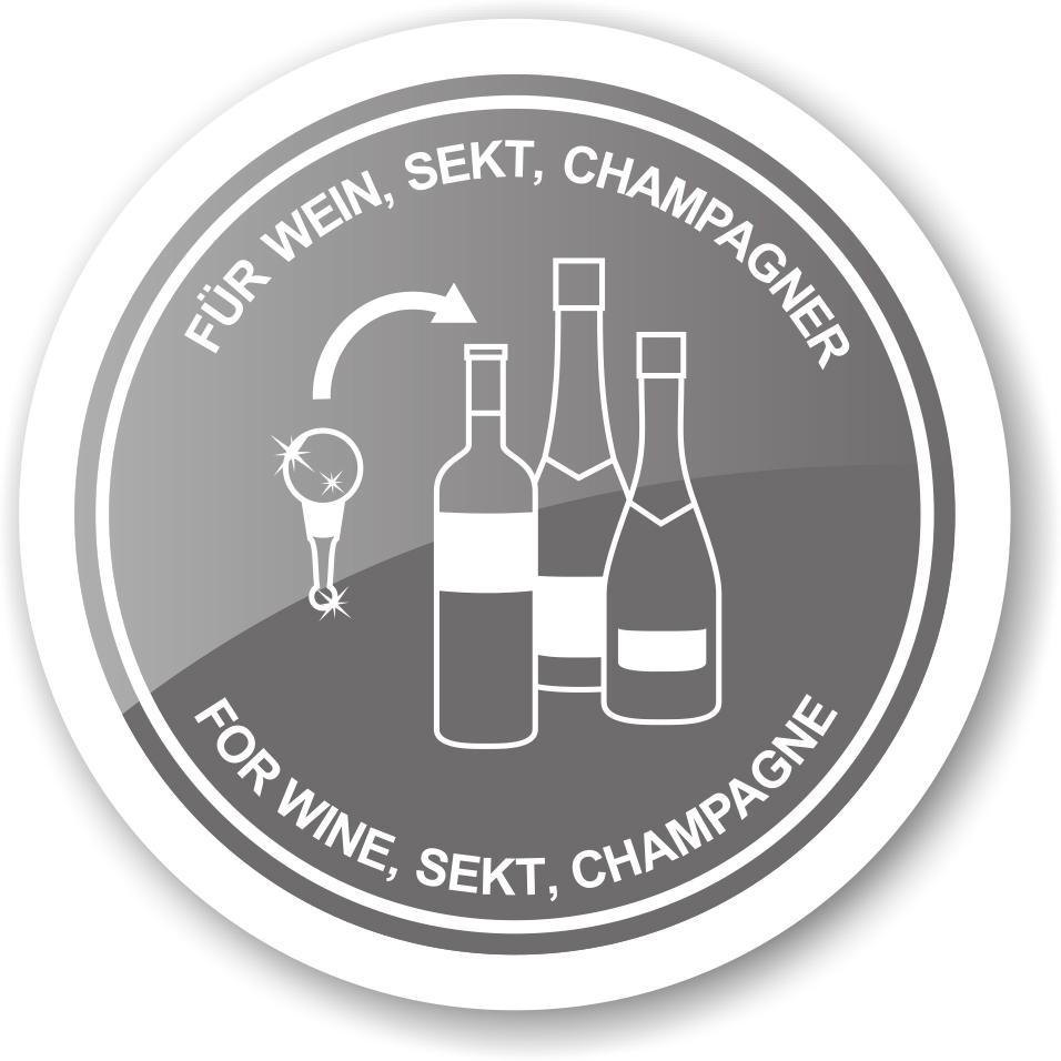 8491 Flaschenverschluss Marienkäfer für Champagner, Wein und Sekt, Höhe 12 cm, Muranoglas-Art, Handa