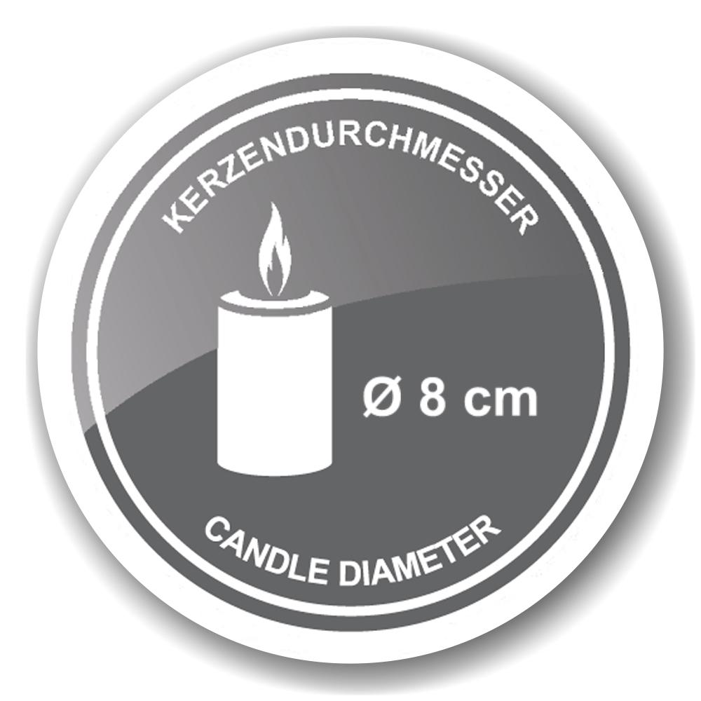 7132 Kerzenleuchter Kerzenteller Agadir Edelstahl hochglanzpoliert Höhe 35cm