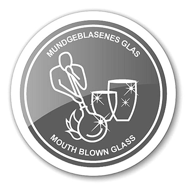 8037 4er Set Kristallgläser Nelson, schwarz, handgeschliffenes Glas , Höhe 9 cm, Füllmenge 0,25 Lite