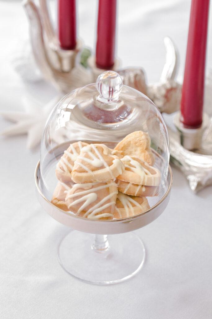 "1254 Bonboniere Glasdose Candy Bar ""Nika"" Kristallglas mit Platinrand,Höhe 32 cm"