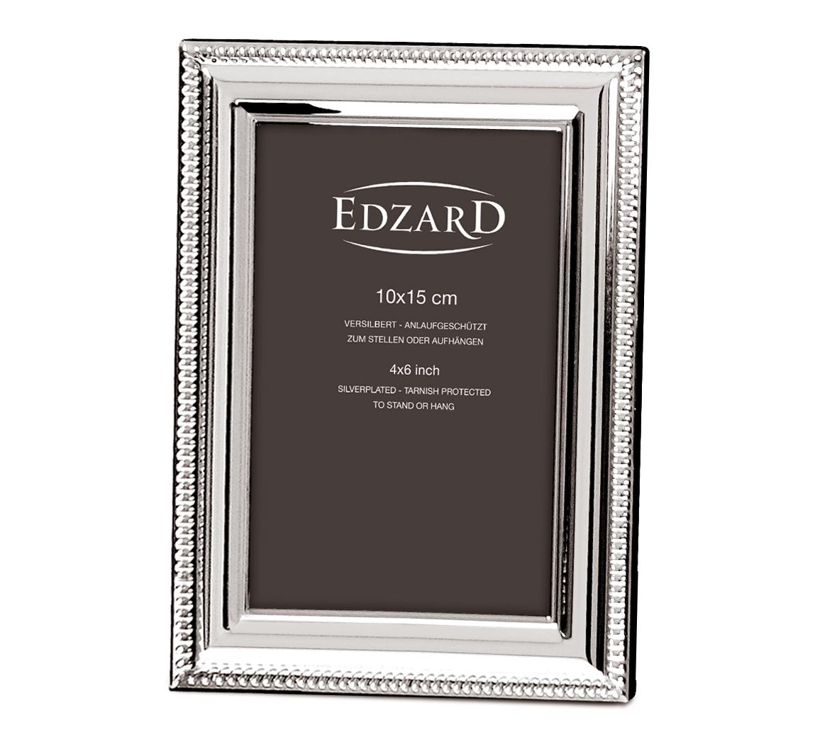 2047 EDZARD Fotorahmen Bilderrahmen Novara für Foto 10 x 15 cm, edel versilbert