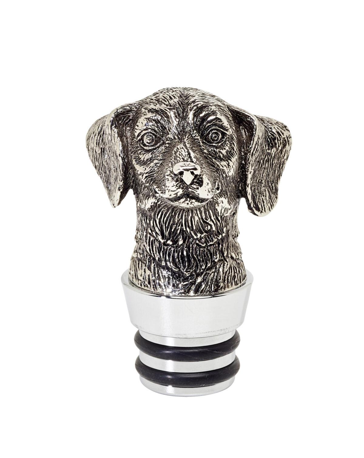 2169 Glas Karaffe Hund H 26cm
