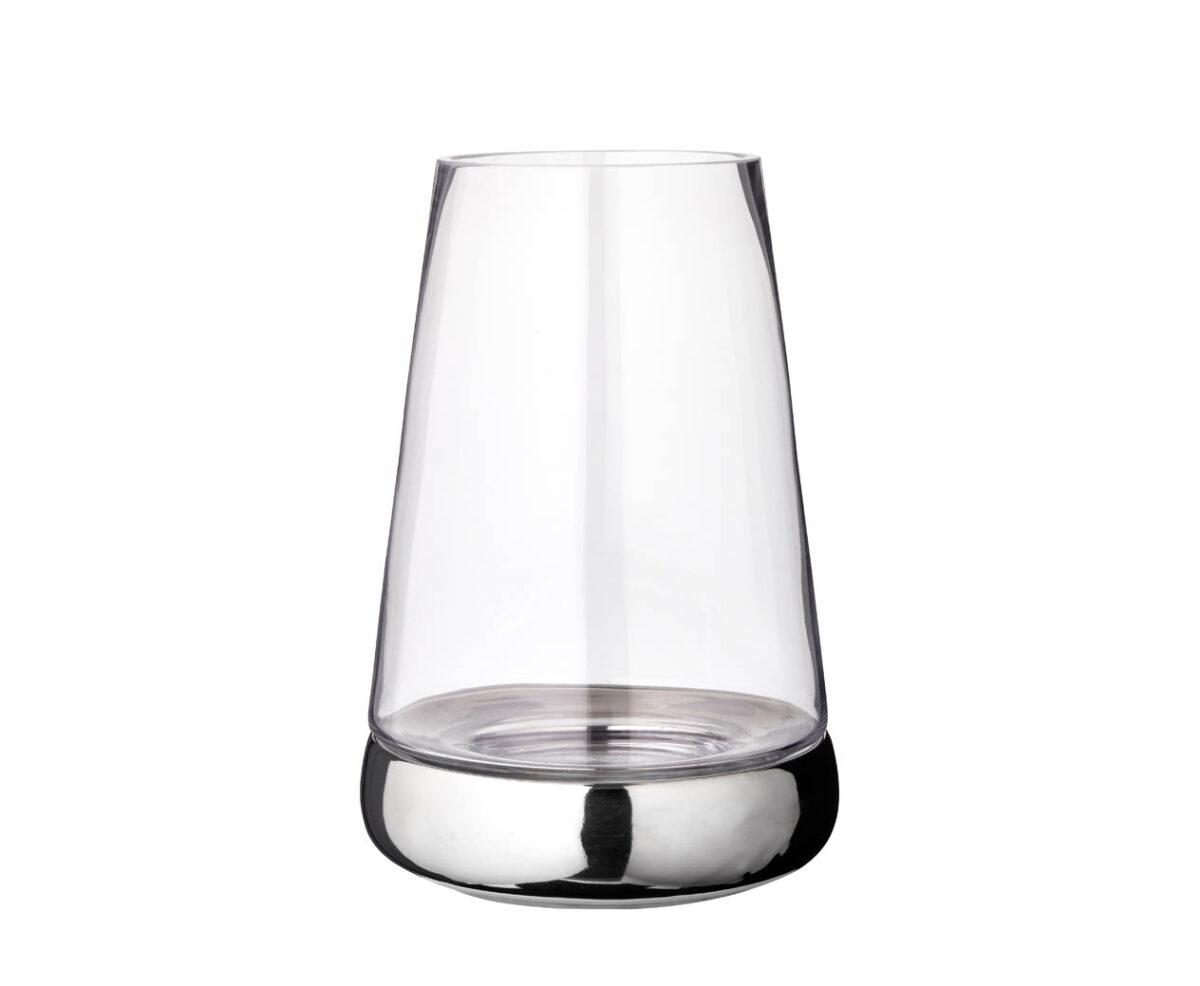 7054 Windlicht Kerzenglas Bora, Glas und Keramik, Höhe 34 cm