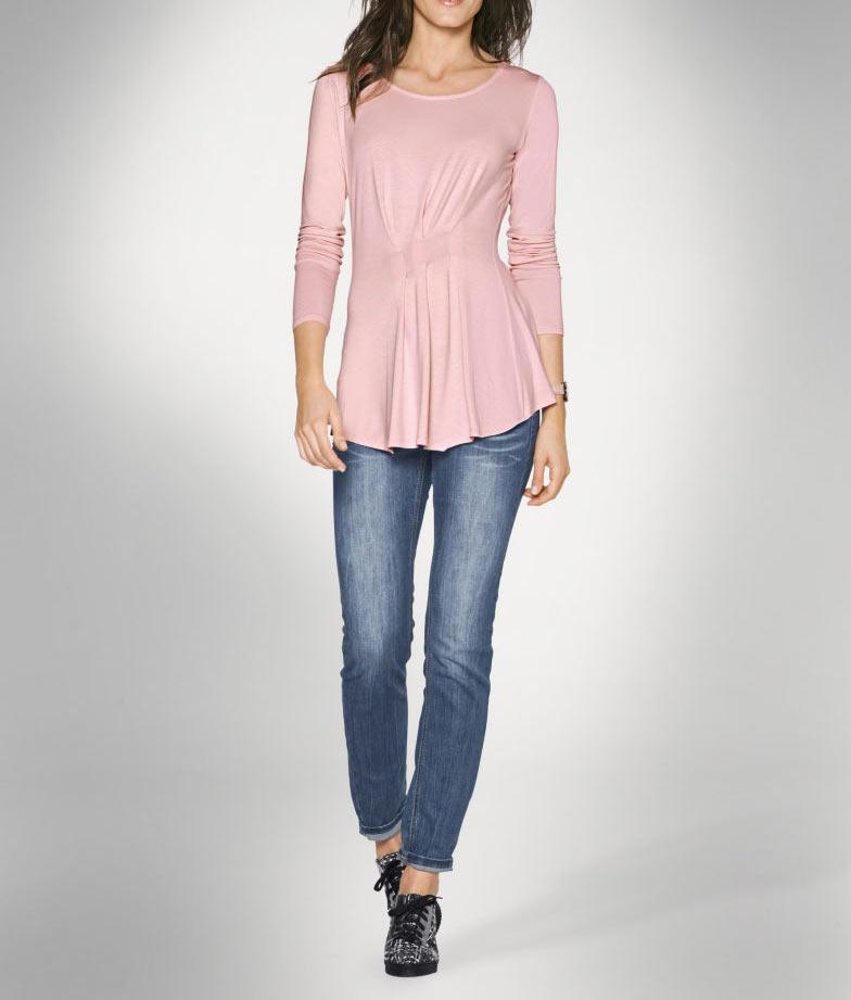 008.576 PATRIZIA DINI Damen Designer-Shirt Rosa
