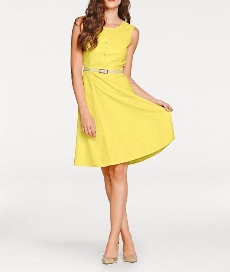 008.969 ASHLEY BROOKE Damen Designer-Prinzesskleid Gelb