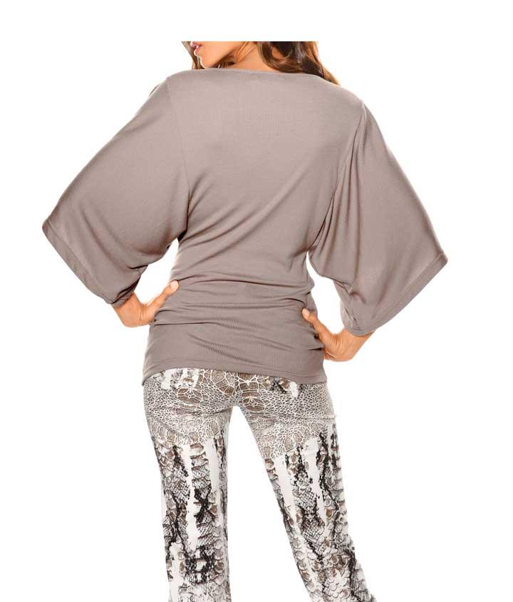033.327 HEINE Damen Designer-Shirt Taupe