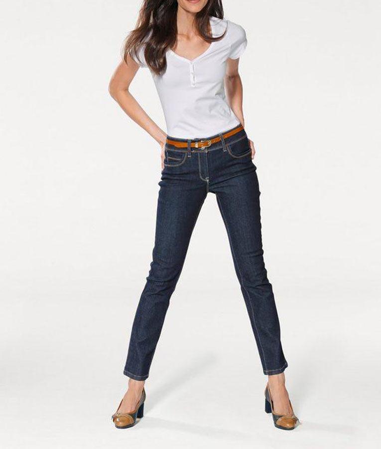 044.874 ASHLEY BROOKE Damen Designer-Shirt Weiß