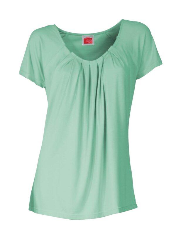 081.441 TRAVEL COUTURE BY HEINE Damen Designer-Shirt m. Drapierungen Mint