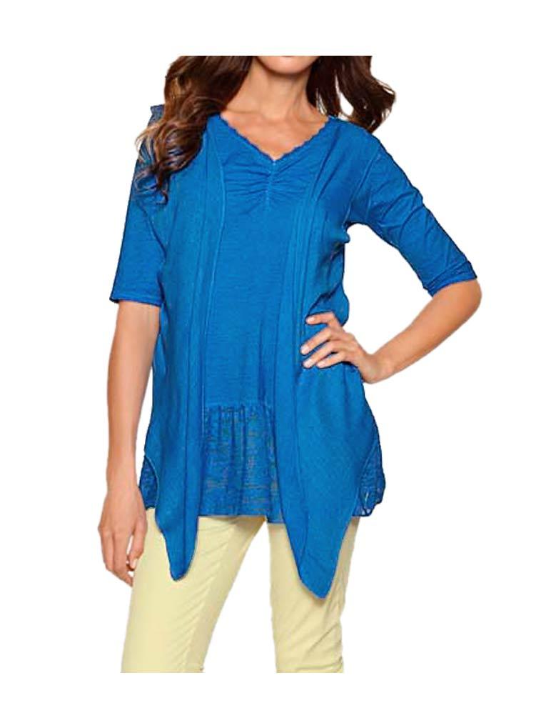 122.894 HEINE Damen Designer-2-in-1 Shirt Blau