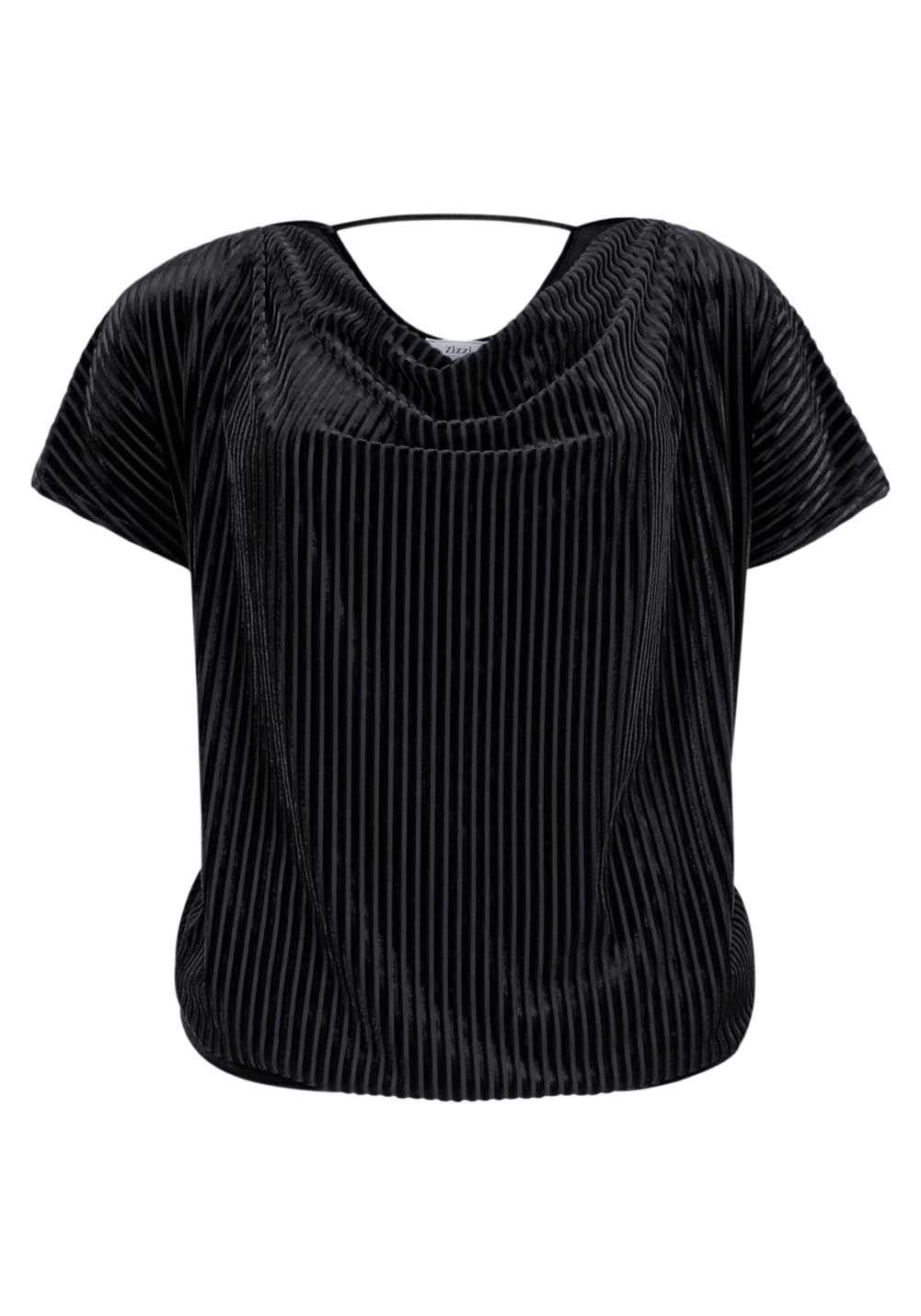 129.844 Blusenshirt, schwarz von Zizzi Grösse M
