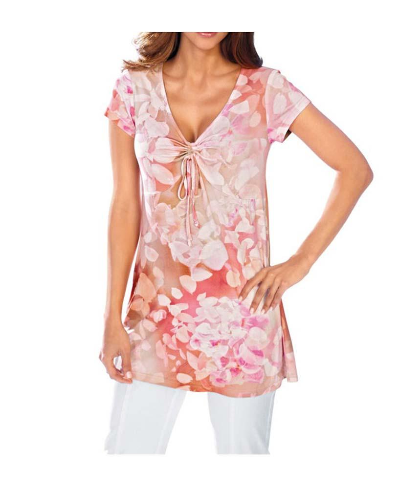 136.791 ASHLEY BROOKE Damen Designer-Shirt Koralle-Bunt