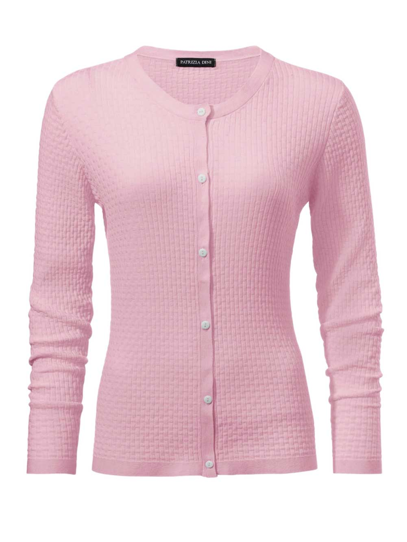 140.496 PATRIZIA DINI Damen Designer-Cardigan Rosé