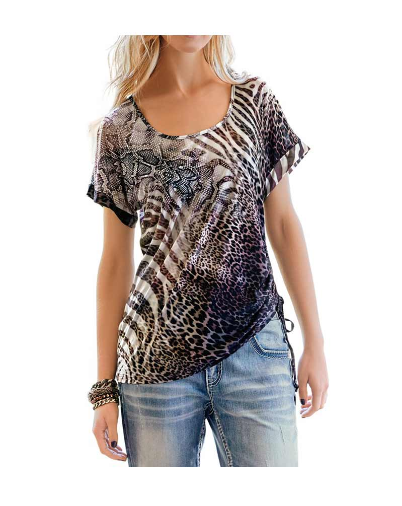 154.123 RICK CARDONA Damen Designer-Shirt Bunt