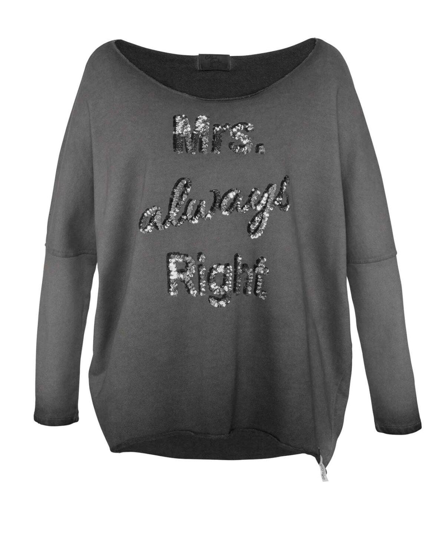 167.705 Sweatshirt m. Pailletten, anthrazit von Cotton Candy Grösse S