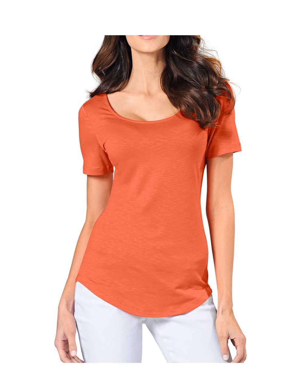 172.900 Rückendekolleté-Shirt, orange von Rick Cardona Grösse 38