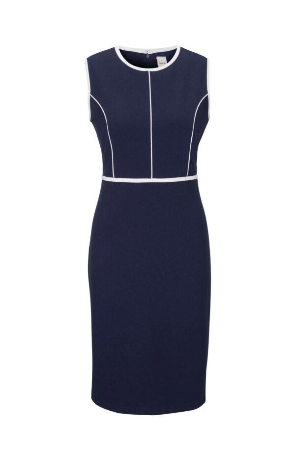 178.673 HEINE Damen Designer-Etuikleid Marine-Weiß