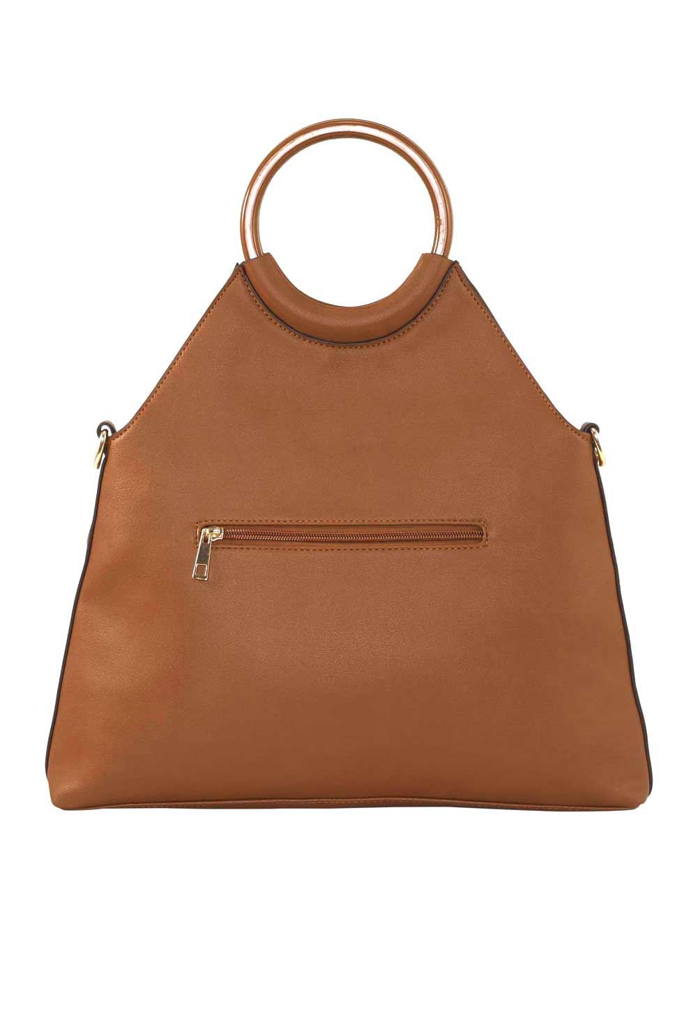 223.648 HEINE Damen Designer-Handtasche Cognac