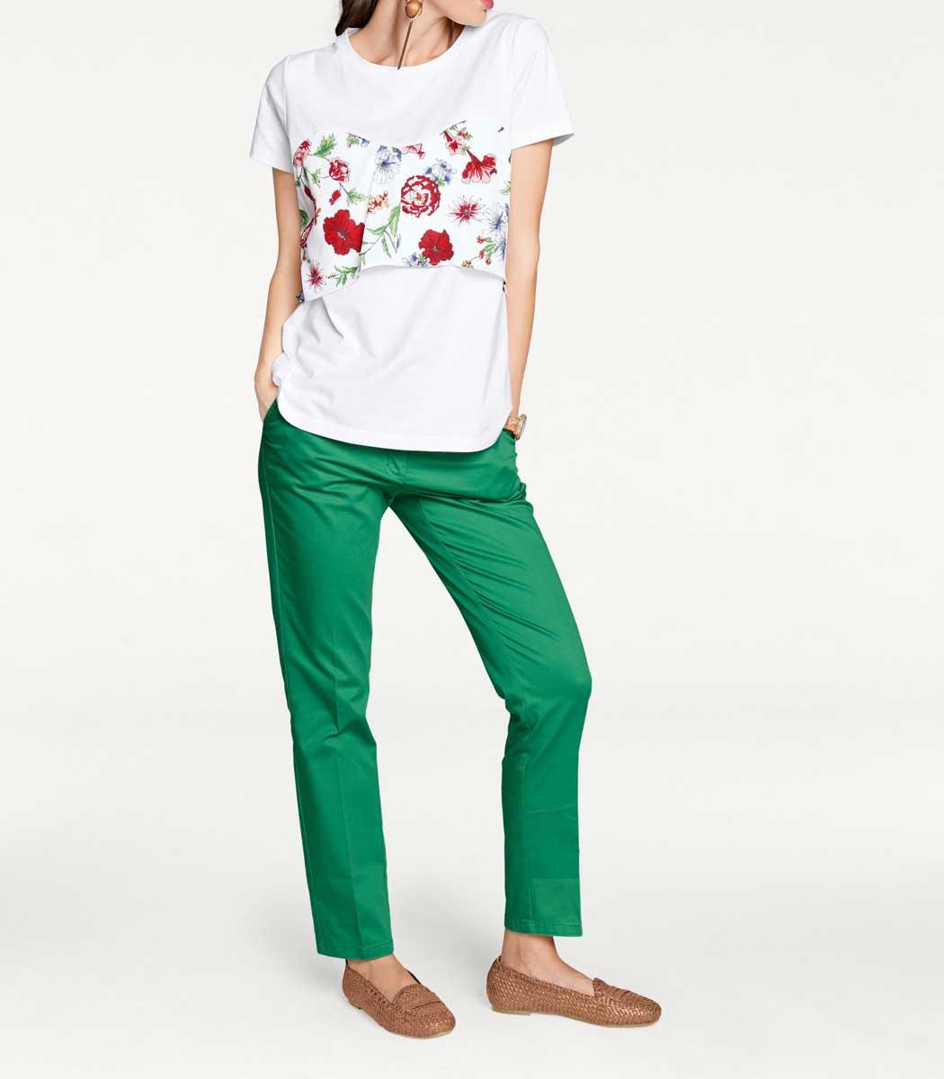 243.287 RICK CARDONA Damen Designer-Shirt Weiß-Bunt