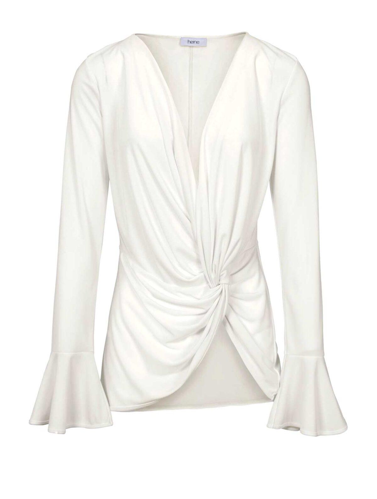 323.025 HEINE Damen Designer-Shirt m. Volants Ecru