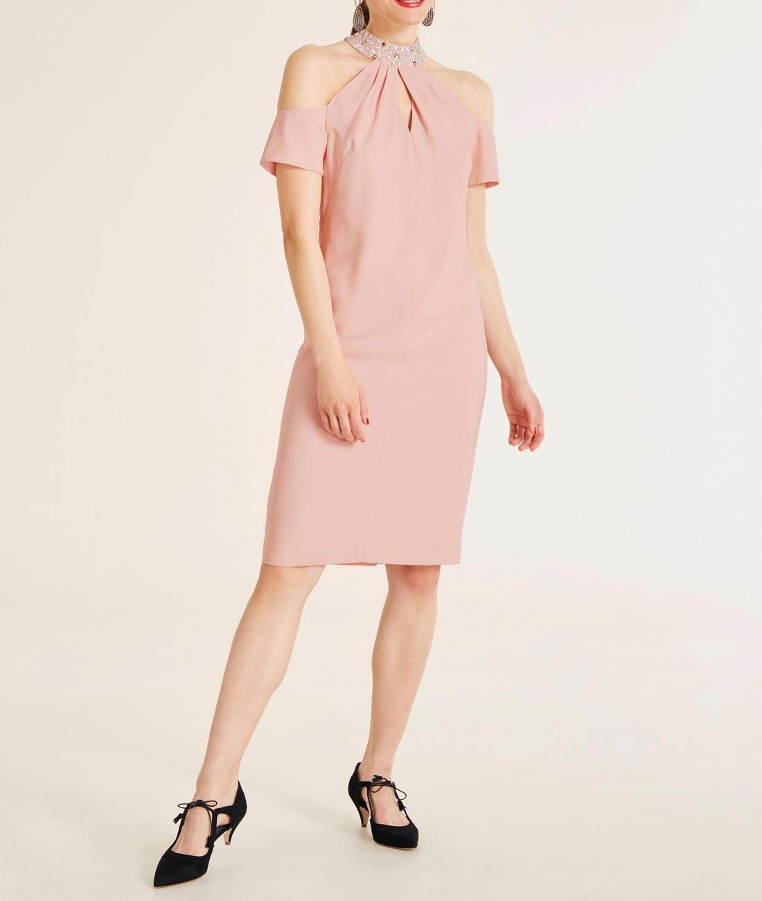 405.316 ASHLEY BROOKE Damen Designer-Cocktailkleid Rosa
