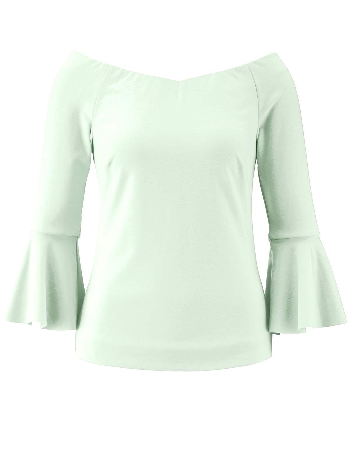 594.944 HEINE Damen Designer-Blusenshirt m. Volants Mint