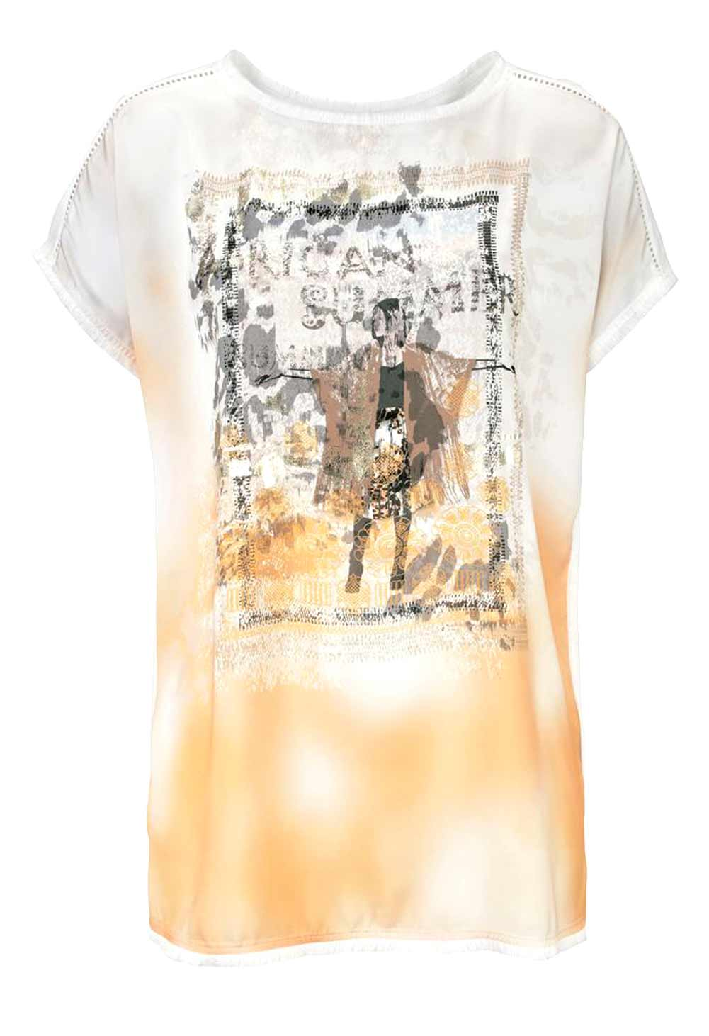 643.727 Shirt, weiß-sand von Basler Grösse 38