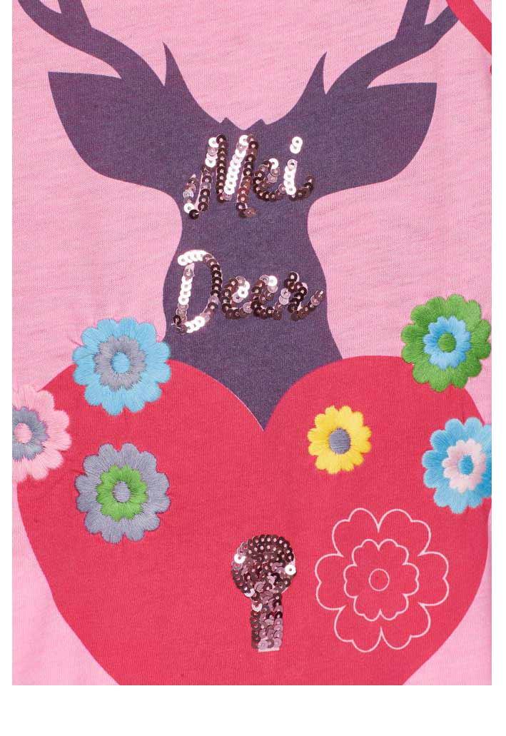653.775 MISS GOODLIFE Damen-Shirt m. Pailletten Pink