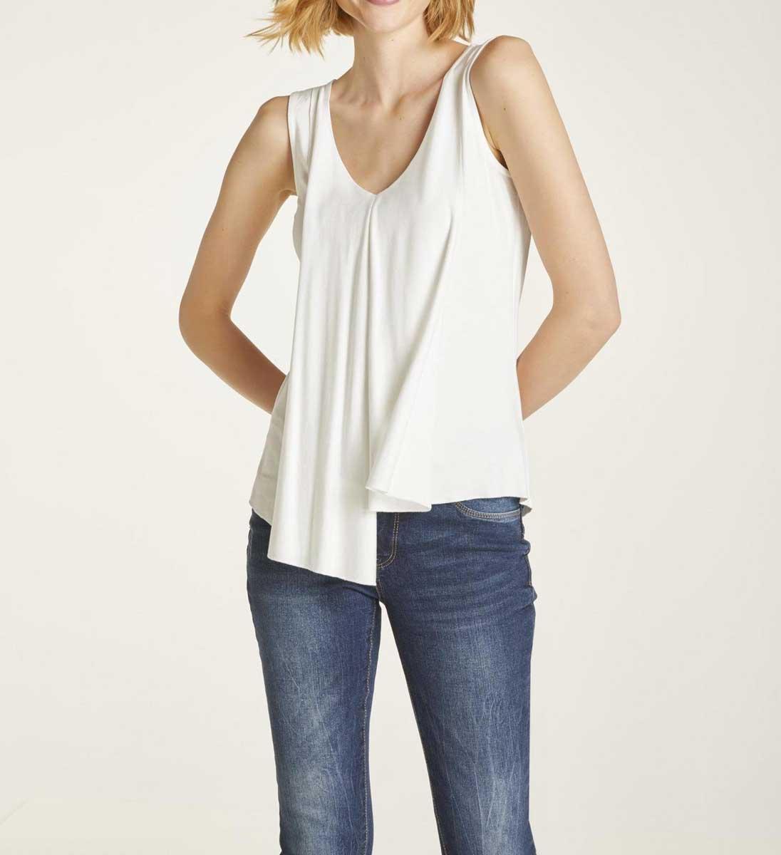 772.207 HEINE Damen Designer-Shirttop Offwhite