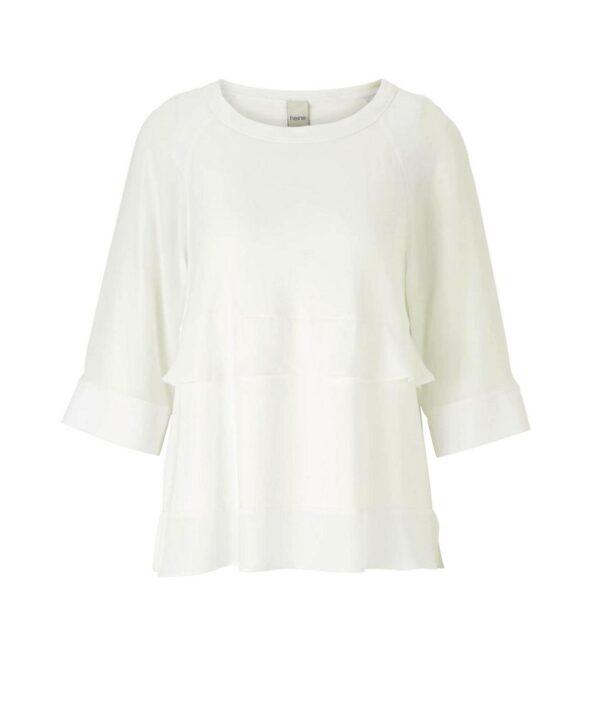 857.159 HEINE Damen Designer-Shirt m. Volants Offwhite