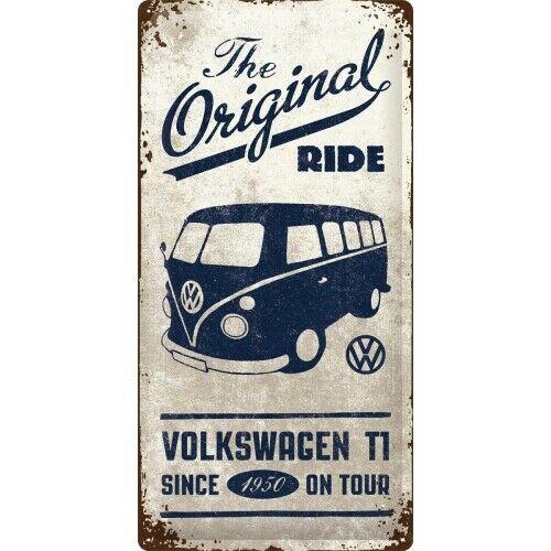 VW Bulli the Original Ride - Blechschild 25 x 50 cm