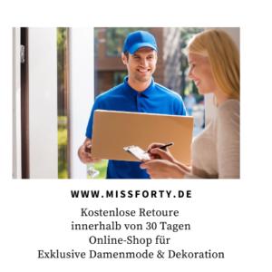 Kostenlose Retoure | Online-Shop Missforty.de